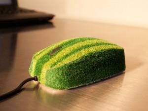 мышка с покрытием из растений