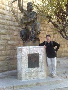 возле памятника царю Давиду