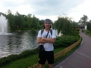 фонтан в бывшей резиденции Януковича